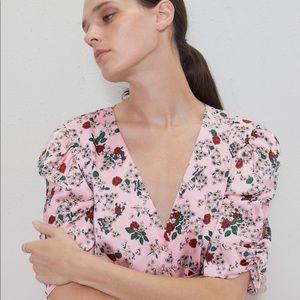 ZARA puff sleeve minidress